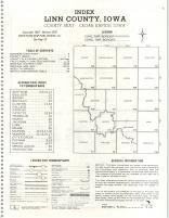 Index Map, Linn County 1979